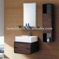 nova impermeável madeira home depot uma gaveta livre suporte de parede do banheiro do armário com melamina portas vaidade pia do banheiro da prateleira nt049