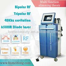 2012 Super lipo laser machine with Vacuum ultrasonic RF lipolysis beauty salon equipment