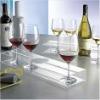 stylish single acrylic wine bottle rack with glass holder
