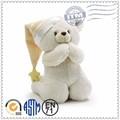 fonte da fábrica personalizado hot venda de brinquedos de pelúcia urso orando