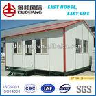 fire proof light steel structure EPS sanwish panel mobile prefab kit home