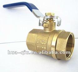 F/F threaded yellow brass ball valve