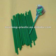 green plastic lollipop sticks 0.4*16cm
