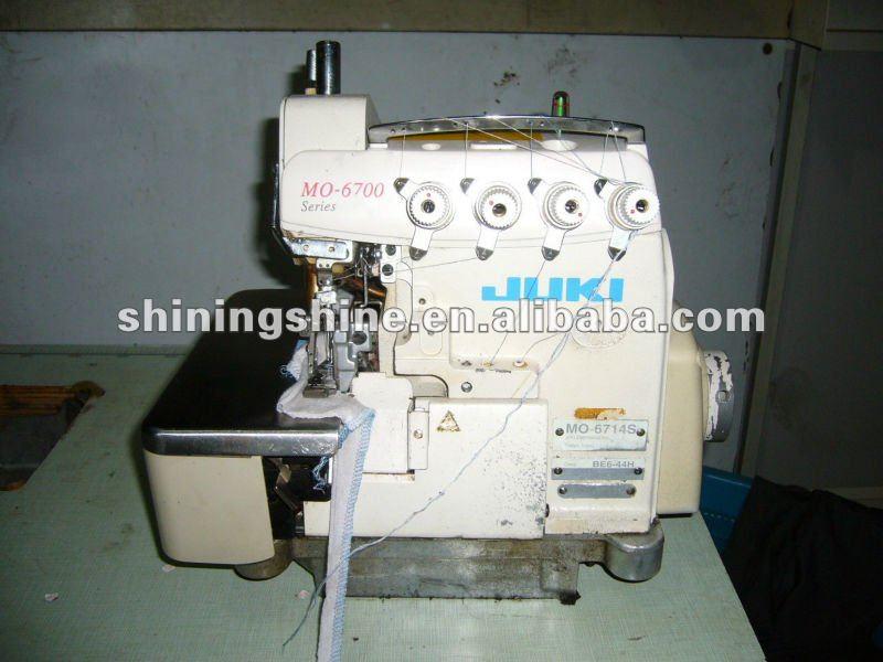 low price used juki 4 thread 5 thread overlock industrial sewing machine