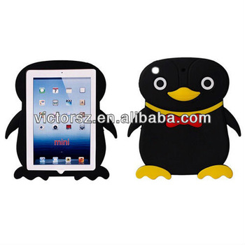 For Apple iPad mini Cases, Cute Penguin silicone 3D Soft ANIMAL
