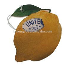 lemon fruit design custom hanging aromatic car perfume