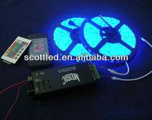 led music controller; control 2 branch 5050 rgb led strip;sound control music light