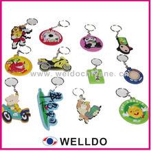 promotional 3D pvc rubber monkey keychain
