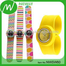 cheap promotional item fashion watch silicone slap watch