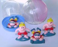 Plastic Ninja Figures into Capsule for Vending Machine Toys