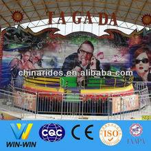 Crazy disco turntable theme park rides for sale tagada