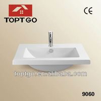 Hot Sale Ceramic Wash Basin Lavabo sinks with CE Approved 9060