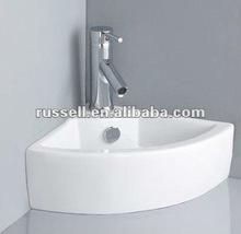 Bathroom wall hang sink corner wash basin 1007