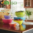6 pcs textured plastic mixing bowl / melamine mixing bowl set