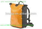 2014 double colors pvc waterproof dry bag with shoulder straps for camping and travelling