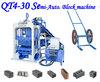 BEST quality !!! Semi-automatic brick manufacturing machine /block making machine QT4-30 brick machine for sale