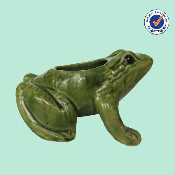 Wholesale Flower Pot Decorative Cute Frog 3D Ceramic Seed Planter