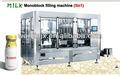 vidrio de la botella de leche de la planta de procesamiento