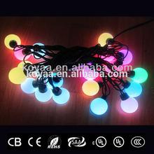 Christmas LED ball string light RGB changing color holiday lighting