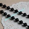 Big 10mm pop black color metal bead chain for necklaces