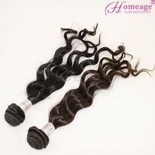 homeage unprocessed 100% virgin brazilian human hair fish line hair extension