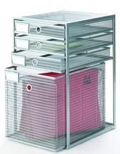 Mesh Desk Organizer File Rack and File Storage Drawer