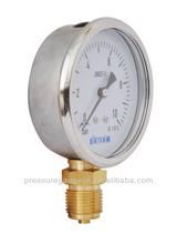 Used for South America bourdon tube glycerin Filled Pressure Gauge manufacturer