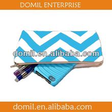 Chevron design pencil bag in muti-colors and in cotton canvas material-PEN104-001