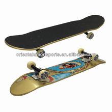 "31""x8.5"" Double kicktail Canadian maple big wheel skateboard"