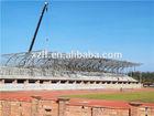 Light weight steel space truss structure for football stadium