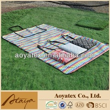 2015 new 100% printed cotton waterproof picnic blanket