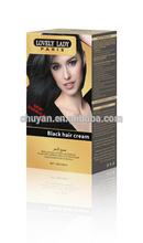Noble lovely lady black hair cream for women