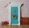 Wholesale price - Wooden Mini Door Fairy Door Colorful miniature door (Blue) QW60203-3