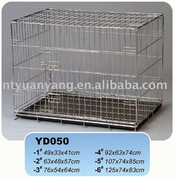 galvanized folding wire pet kennels dog house ABS pan with grill house