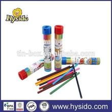 12pcs Color pencil tin box with sharpener set