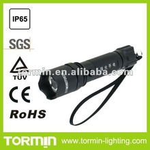 Rechargeable IP66 CREE LED police flashlight
