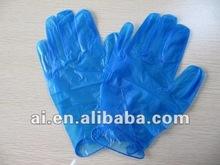 Blue disposable powdered/ powder free Vinyl Glove