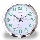 luninious plastic Clock glow in the dark clock