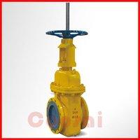 Parallel single disc flat gate valve
