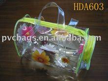 Hot sale PVC vinyl clear plastic zipper pouch for packaging