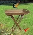 bandeja plegable de madera mesa de balcón para las plantas