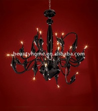 big glass chandelier /black chandelier/ modern pendant lamp(BL5445-24)