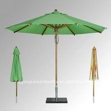 beautiful Green wooden garden umbrella