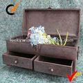 handmade rústico estilo industrial folha de metal no peito de armazenamento