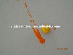 Outdoor shooting paintballs