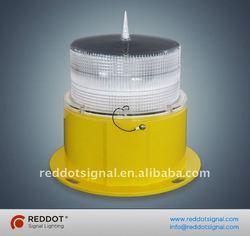Solar powered aircraft warning light/solar obstruction lights/solar obstacle signal beacon
