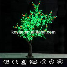 2.3m artificial led Christmas cherry tree light green leaves red petal for wedding decoration 1152leds Koyaa FZ-1152-4