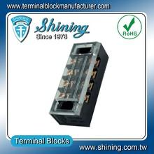 TB-2504L Electric M4 Screw 600V 25A 4 Pole Phone Terminal Block