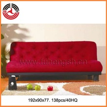 Hot-sale Red beautiful 3 seats fabric sofa bed