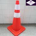 de color naranja flexible de pvc conos de tráfico